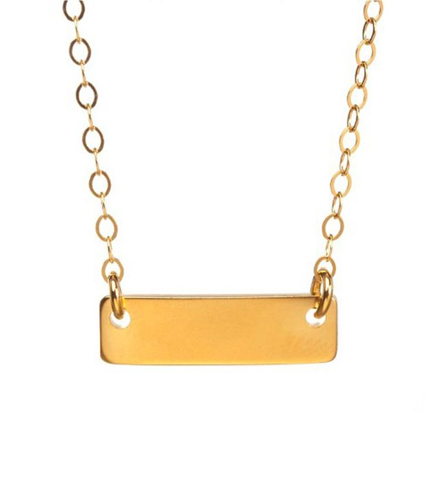 Venice and Violet Horizontal Bar Necklace