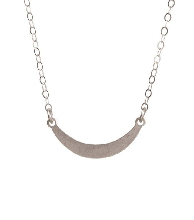 Venice and Violet Centered Crescent Necklace