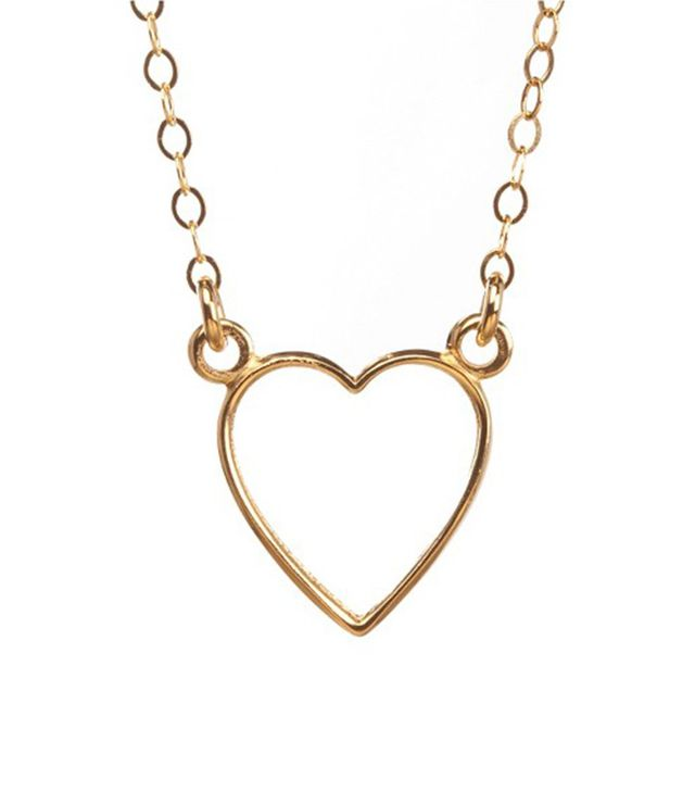 Venice and Violet Open Heart Necklace