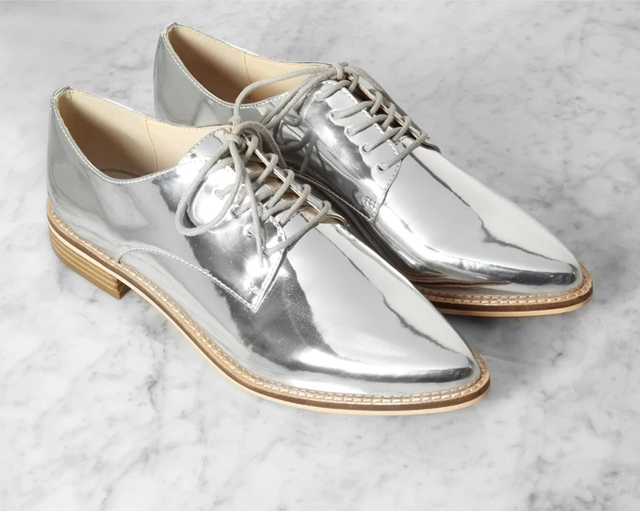 Forever 21 Metallic Faux Leather Oxfords