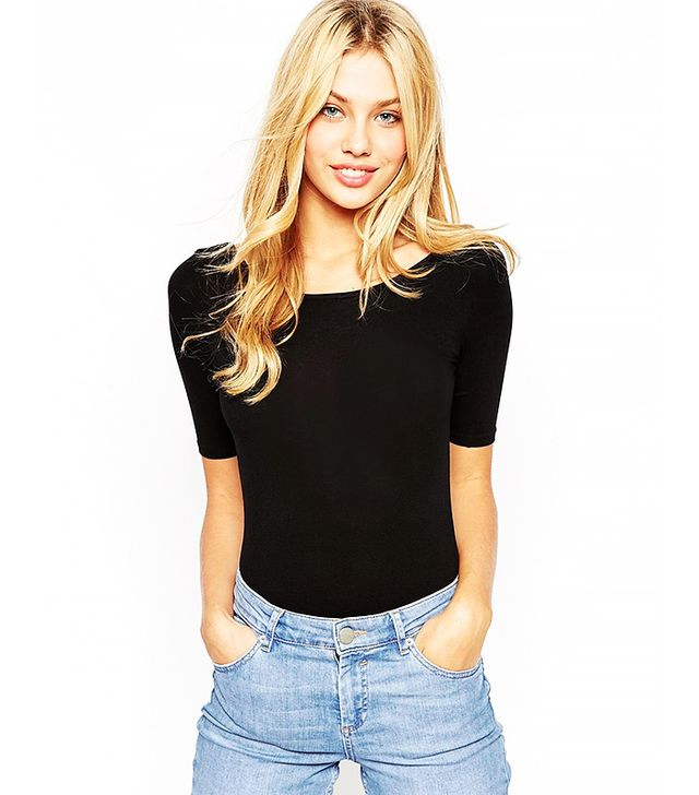 ASOS Body With Scoop Neck and Half Sleeve