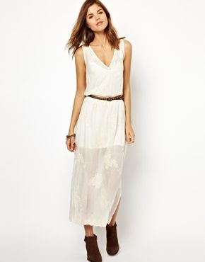 Warehouse  Circle Embroidered Dress