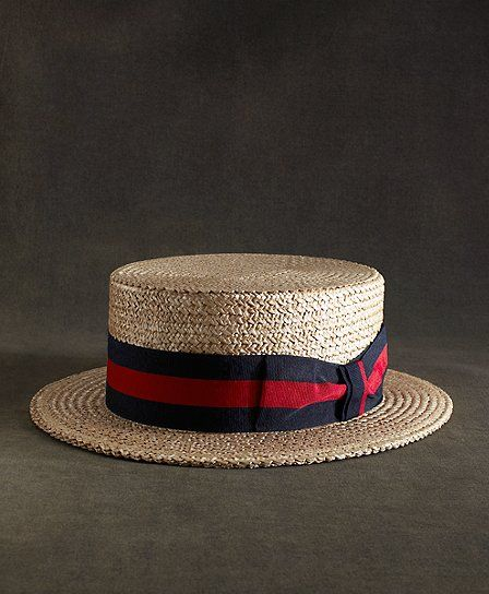 Brooks Brothers  The Great Gatsby Collection Straw Boater Hat
