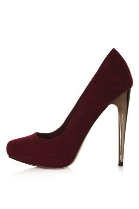 Topshop  Steel Metal Heel Court Shoes
