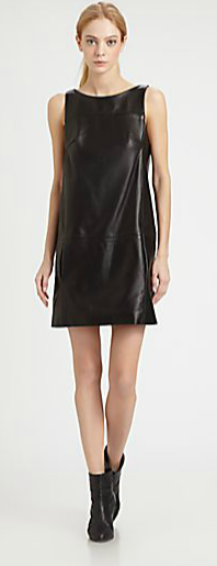 Rag & Bone Corina Leather Shift Dress