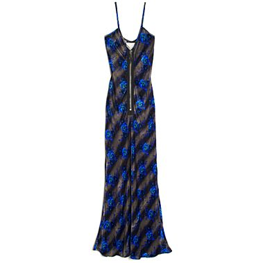 Christopher Kane  Zip Front Maxi Slip Dress
