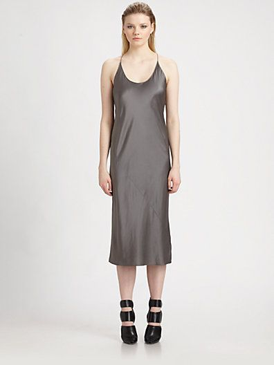 T by Alexander Wang  Silk Satin Slip Dress