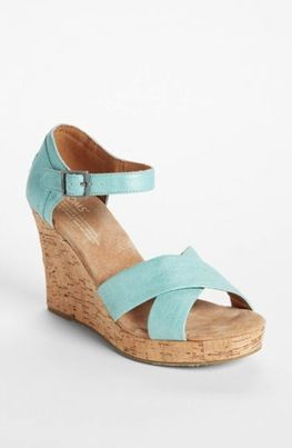 Toms  Metallic Linen Wedge