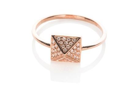 EF Collection  Diamond Pyramid Ring
