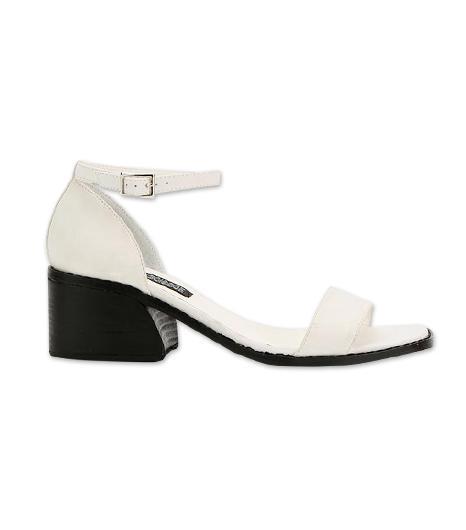 Deena & Ozzy Minimal Block Heeled Sandal