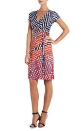 BCBGMaxazria Greer Printed Wrap Dress