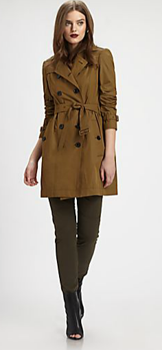 Burberry Brit Gathered-Back Trench Coat
