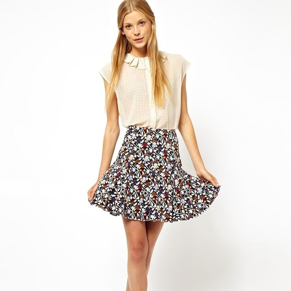 ASOS Mini Skirt In Floral Print