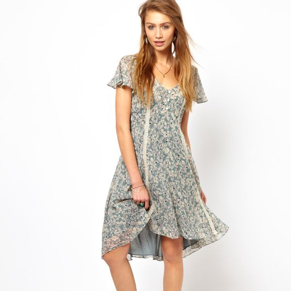 Denim & Supply Floral Print Tea Dress
