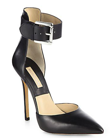 Michael Kors Adelaide Leather Ankle Strap Pumps
