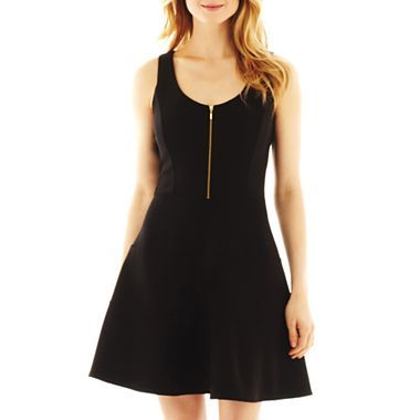 Dr Collection Sleeveless Zip-Front Dress