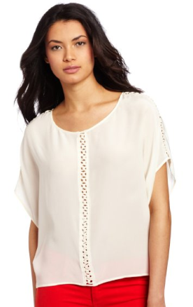Aryn K  Short Sleeve Blouse