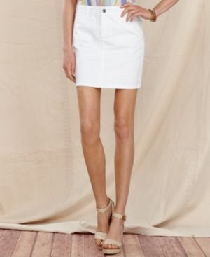 Tommy Hilfiger  Denim Fitted Mini Skirt