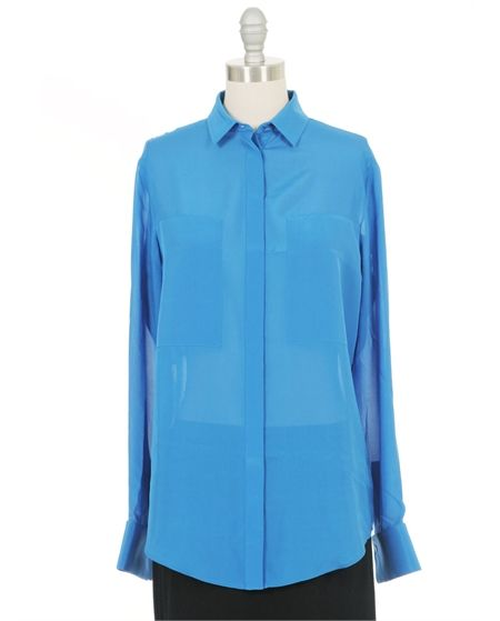 T by Alexander Wang  Silk Combo Blouse