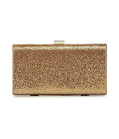Kate Landry  Social Metallic Mesh Box Frame Clutch