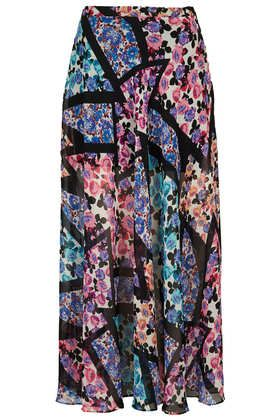 Topshop  Cutabout Floral Print Maxi