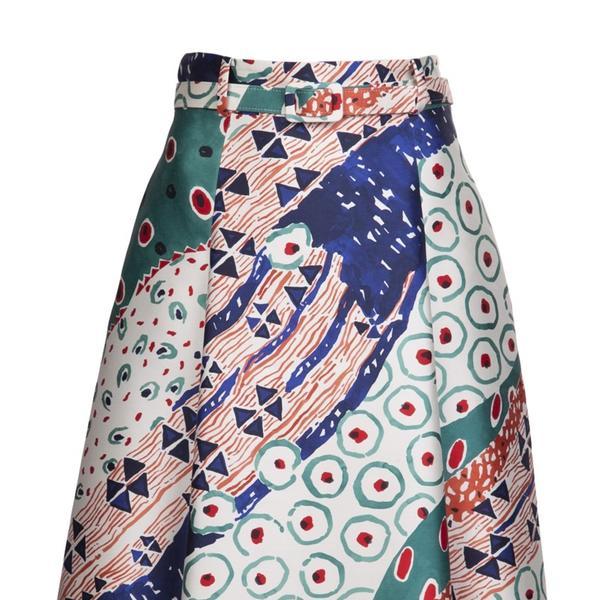 Oscar de la Renta  Full Printed Skirt
