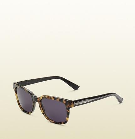 Gucci  Havana Square Vintage Style Sunglasses