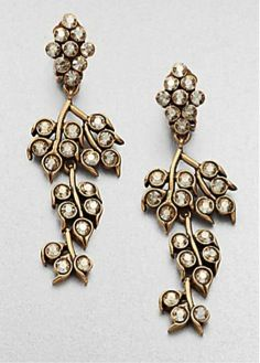 Oscar de la Renta Oscar de la Renta Vine Clip-On Drop Earrings