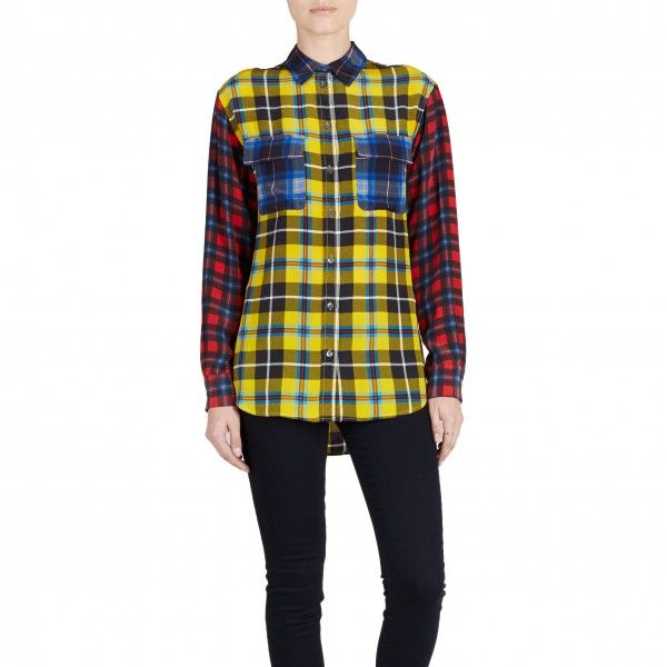 Equipment Signature Dandelion Rampart Plaid Button Down
