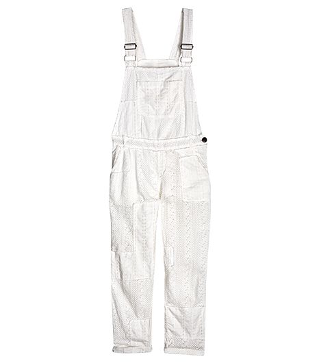 Free People Straight Eyelet Overalls