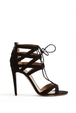 Aquazzura Beverly Hill Suede Lace-Up Shoes