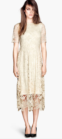 H&M Ankle-Length Lace Dress