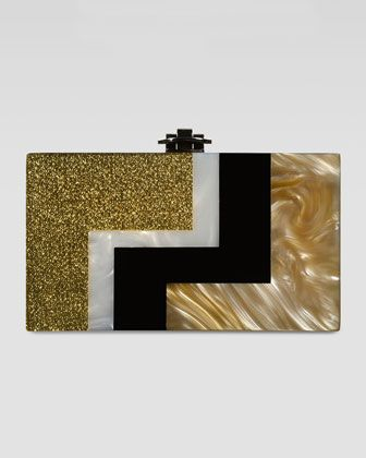 Rafe Alicia Lucite Box Clutch