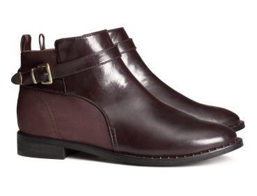 H&M Low Boots With Side Zip