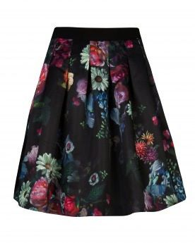 Ted Baker  Oil Painting Printed Skirt