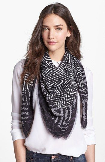 Burberry  Herringbone Silk Scarf