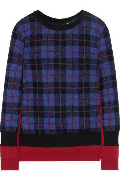 Marc by Marc Jacobs   Aimee Trompe L'oeil Plaid Merino Sweater