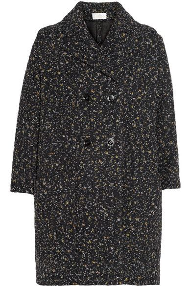 Chloe  Confetti Boucle-Tweed Cocoon Coat