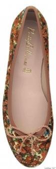 Pretty Ballerinas  Marilyn Flowery Textile Flats