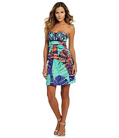 Aryn K.  Strapless Dress