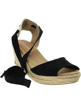 Old Navy  Tie-Leg Mid-Wedge Espadrilles