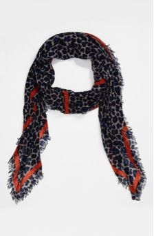 Marc by Marc Jacobs Marc by Marc Jacobs Leonora Leopard Print Scarf