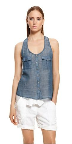 DKNY Jeans DKNY Jeans Chambray Equipment Tank