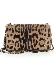 Jerome Dreyfuss Bobi Leopard-Print Calf Hair Shoulder Bag
