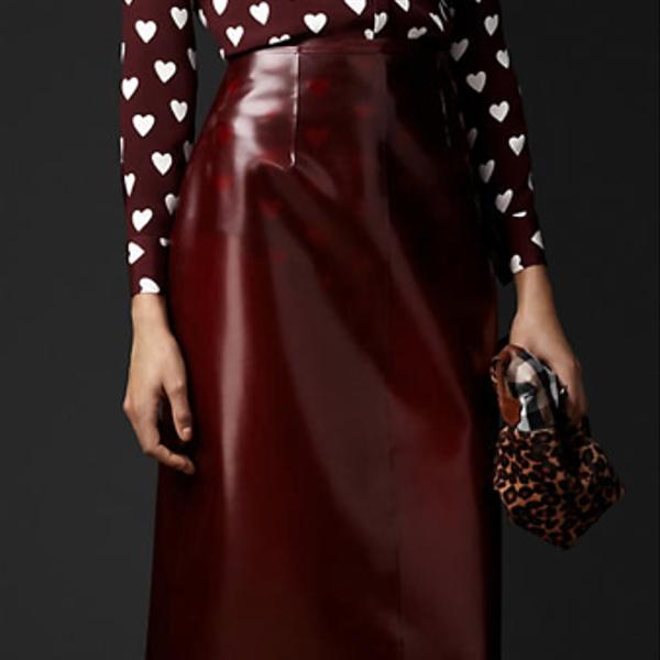 Burberry Prorsum Translucent Rubber Pencil Skirt