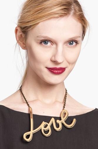 Lanvin Love Chain Necklace