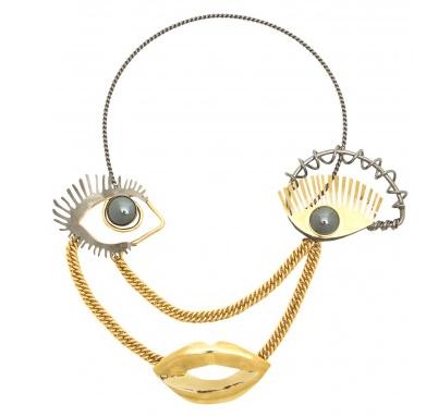 Paule Ka Eye and Mouth Necklace