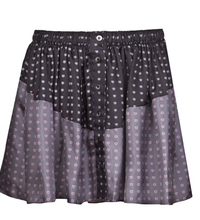Thakoon Addition Heart Print PJ Skirt