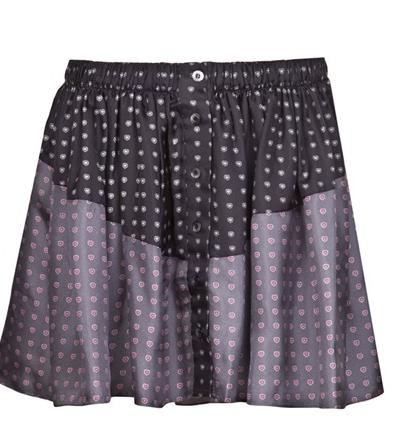 Thakoon Addition Heart Print PJ Skirt