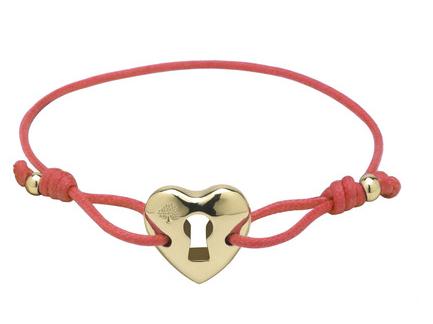 Mulberry Heart Friendship Bracelet